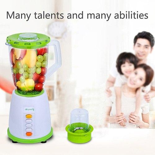 220V 1500ML Electric Fruit Juicer Blender Nutrition Machine Juicer Food Mixer Grinder Glass Cup Six Blades 304 Stainless Steel
