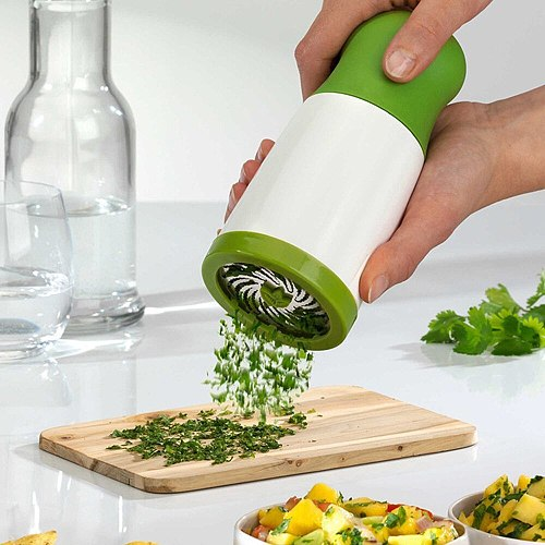 New Herb Grinder Spice Mill Parsley Shredder Chopper Fruit Vegetable Cutter Kitchen Gadgets Cooking Tools