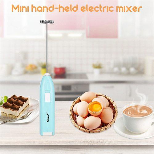 3Pcs Mini Electric Egg Beater Drinks Milk Frother Foamer Whisk Mixer Stirrer Handheld Cooking Tools Hand Blenders Random Color46
