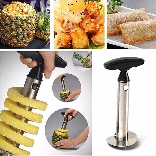 Creative Knife Kitchen Tool Stainless Steel Fruit Pineapple Corer Slicer Peeler Cutter Parer Pineapple Kitchen Cooking Supplies