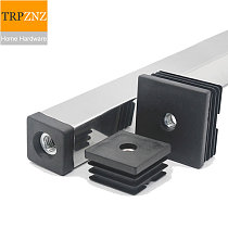 Rectangular Pipe plugs with nut 40x40,M10 hole,Square tube plug,Pipe Cover, Table and chair shelf mat Inner cap,Furniture feet