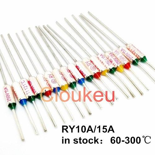 RY/Tf Metal temperature fuse 10A/15A250V 60/65/70/72/73/75/77/80/84/85/90/92/93/94/95/96/99/100/105/110/113/115C
