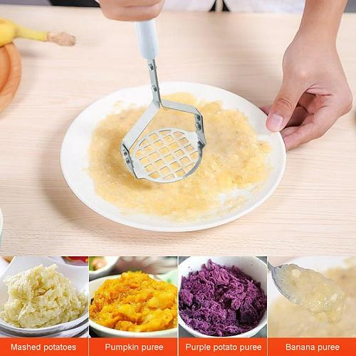 Stainless Steel Potato Masher Ricer Broad Pusher Plate Smooth Mashed Potatoes Garlic Mud Vegetable Fruit Tools Press Crusher