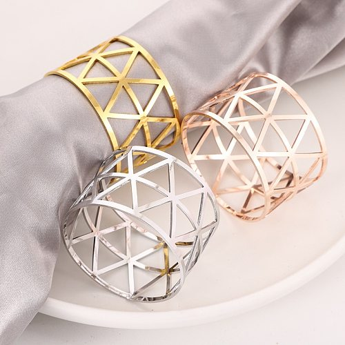 10pcs Serviette Rings Alloy Napkin Holder West Dinner Towel Napkin Ring Party Decoration Table Decoration Accessories Tool
