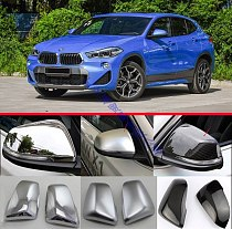 For BMW X2 F39 2018 2019 Door Side Mirror Cover Trim Rear View Cap Overlay Molding Garnish