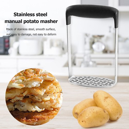 Stainless Steel Potato Masher Manual Press Fruits Potatoes Ricer Crusher Tools for Smooth Mashed 18x12x7.3cm