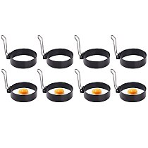 Fried Egg Pancake Shaper Mold Circle Round Omelette Mould Cooking Fried Egg Tools Frying Rings Kitchen Accessory,8 Pcs
