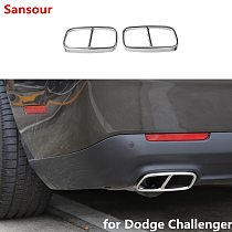 For Dodge Challenger 2015+ Car styling Rear Throat Exhaust Vent Tail Pipes Cover Muffler Tip Cover Garnish Trim Accessories