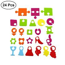 24pcs Multicolor Suction Cup Glasses Marker Silicone Label Party Dedicated Glass Cup Recognizer Tools Labeling Supplies