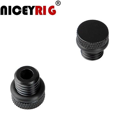NICEYRIG 15mm Rod Cap 15mm Rod Rail Stopper Screw Cap M12 Rig Screw Nut Shoulder Rig Camera Rig Dust-Proof Nut (2 Pieces a Pack)