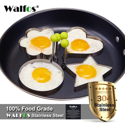 4 Pieces /Set Stainless Steel Cute Shaped Fried Egg Mold Pancake Rings Mold Kitchen Accessories Cooking Tool