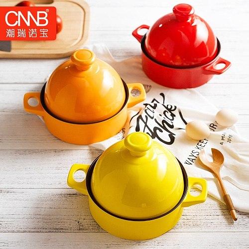 Taji Frying Pot High Temperature  and Open Fire Curing Ceramic Flat-bottomed Lithium Porcelain Taji Frying Pot