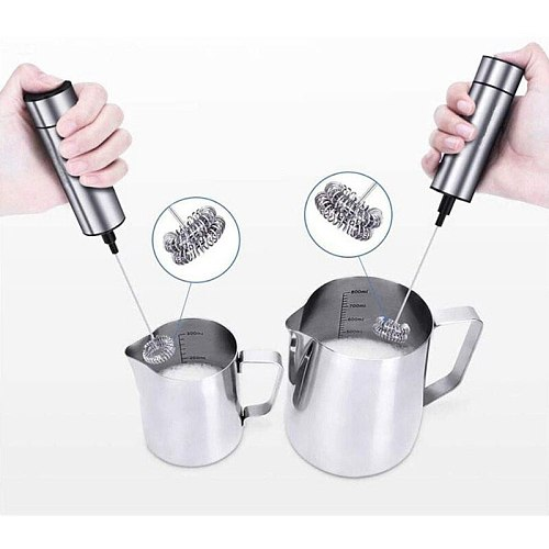 Electric Milk Frother, Coffee Frother Electric Whisk for Coffee, Latte, Cappuccino, Hot Chocolate, Beating Eggs