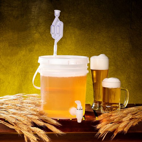 Household plastic bucket for wine fermentation leakproof container Beer fermenter BPA Free 5L 10L