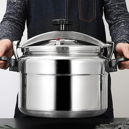 Aluminum Alloyl Large-Capacity Pressure Cooker Gas Cooker Can Use Explosion-Proof Pot Home Cooking Utensils 5-18L