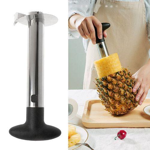Easy Kitchen Tool Stainless Steel Pineapple Fruit Corer Slicer Cutter Peeler New 19QE