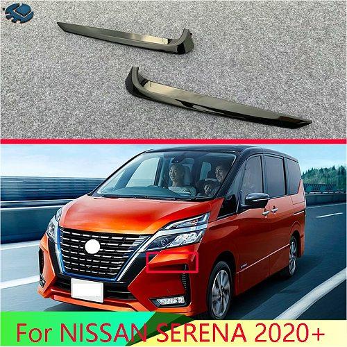 For NISSAN SERENA 2020+ Car Accessories ABS Chrome Front Fog Light Lamp Cover Trim Molding Bezel Garnish Sticker