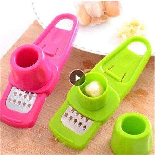 Manual Ginger Garlic Grinding Garlic Crusher Multi Functional Grater Cutter Utensils Garlic Peeler Kitchen Accessories Tools