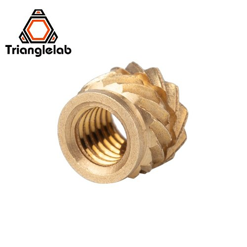 Trianglelab M3 Brass Embedded Nut Inset Nut For Sherpa MINI Extruder KIT 3D Printer Accessories