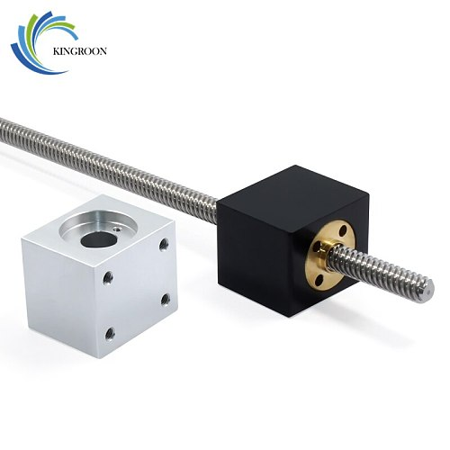 KINGROON Nut Housing Bracket For 8mm T8 Trapezoidal Lead Screw Nut converter Nut Seat Aluminum Block 3D Printing Parts