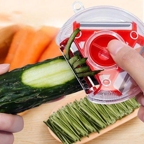 3 Types Blades Fruits Vegetables Peeler Slicer Stainless Steel Peeler Shredder Julienne Cutter Kitchen Tool Kitchen Gadgets