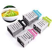 1PC Multifunction Peel Cutter Stainless Steel Mini Four-Sided Grater Planer Fruit Ginger Garlic Grater Cooking Kitchen Gadget