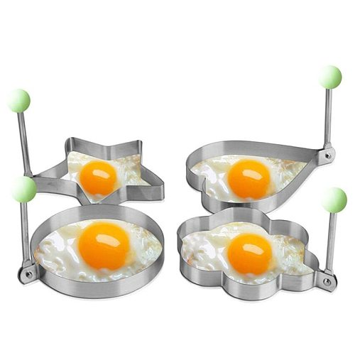 Stainless Steel 3 Style Fried Egg Pancake Shaper Omelette Mold Mould Frying Egg Cooking Tools Kitchen Accessories Gadget Rings
