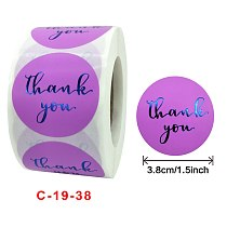 500pcs 1.5inch  THANK you for your order sticker for envelope sealing labels sticker black Purple gold sticker stationery supply