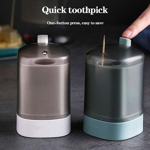 Automatic Pop-up Toothpick Box Portable Pop-up Toothpick Holder Container for Restaurant Kitchen Toothpicks Dispenser