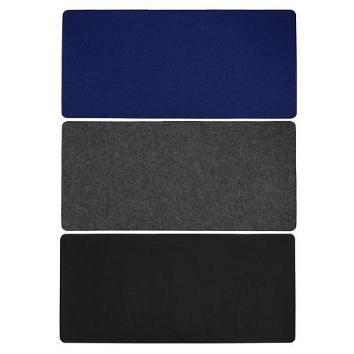 Black Gray Blue 700*330*2 mm Soft Wearable Office Computer Desk Mat Modern Table Mouse Pad Wool Felt Laptop Cushion Desk Mat
