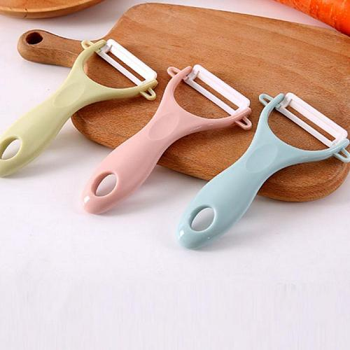 1 Piece Ceramic Fruit And Vegetable Peeler Kitchen Tool Stainless Steel Potato Sharp Slicer Cutter Safety Ceramic Knife New