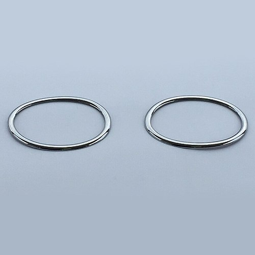 For Nissan Qashqai/Dualis J10 2010 2011 2012 2013 2014 Chrome Front Fog Light Circle Lamp Trim Molding Garnish Frame Accessories