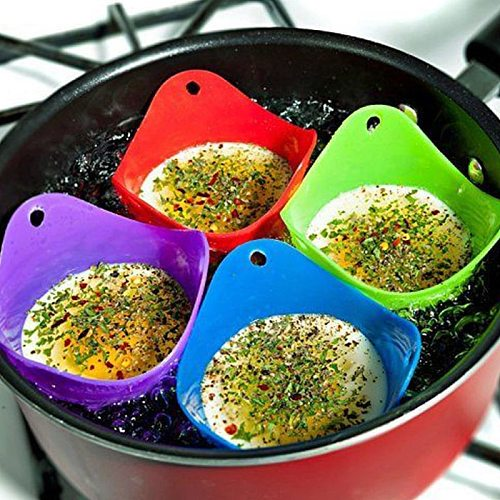 5Pcs Round Silicone Egg Poacher Poaching Pods Egg Steamer Bowl Rings Cooker Kitchen Boiler Cuit Cooking Tools Pancake Egg Maker