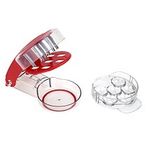 Cheery Cherries Pitter Seed Removing Tool Home Office Travel Fruit Stone Extractor With 6 Single Holes