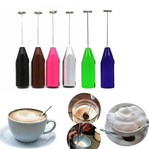 1pc Mini Handle Stirrer Practical Milk Drink Coffee Whisk Mixer Electric Egg Beater Frother Foamer Kitchen Cooking Tool