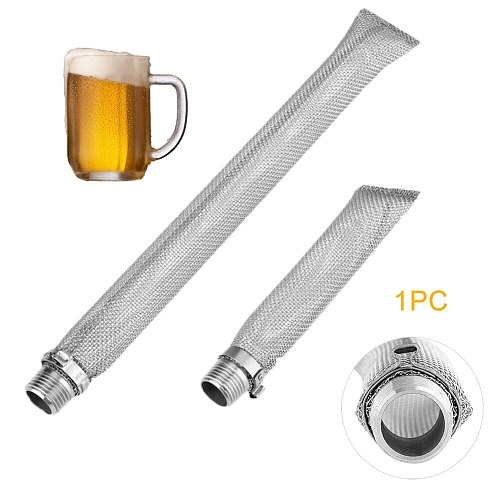 Mesh Spigot Connect Beer Filter Wine Home Multifunction Thread Reusable Brewing Stainless Steel Kettle Bazooka Screen Strainer