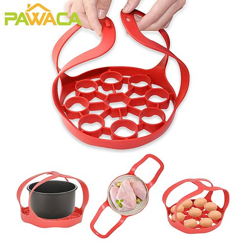 Silicone Pressure Cooker Sling Steamer Lifter Pot Cookers Pad Insulated Crock Mat Rack Egg Heat Drain Kitchen Accessories
