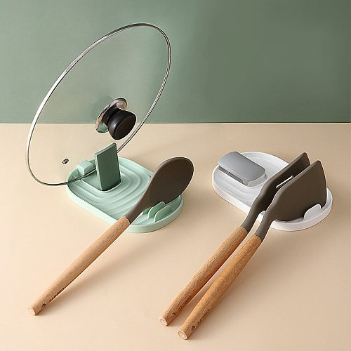 Collapsible Wok Lid Wok Spatula Spoon Rack Place The Shelf Plastic Easy To Clean Kitchen Accessories Supplies Tools