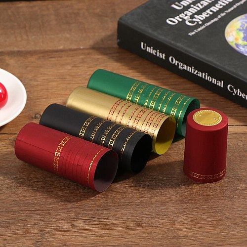 10pcs/lot Wine Bottle Seal Bar Party Supplies Wine Bottle Cover PVC Heat Shrink Cap Barware Accessories For Home Brewing