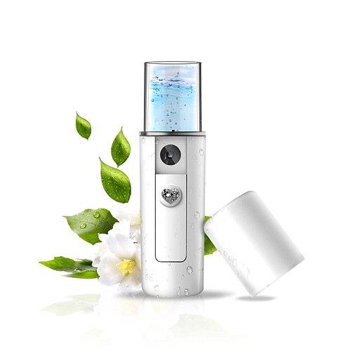 USB Rechargeable Nano Mist Sprayer Facial Body Nebulizer Steamer Moisturizing Skin Pores Cleansing Mini Face Spray Beauty Device