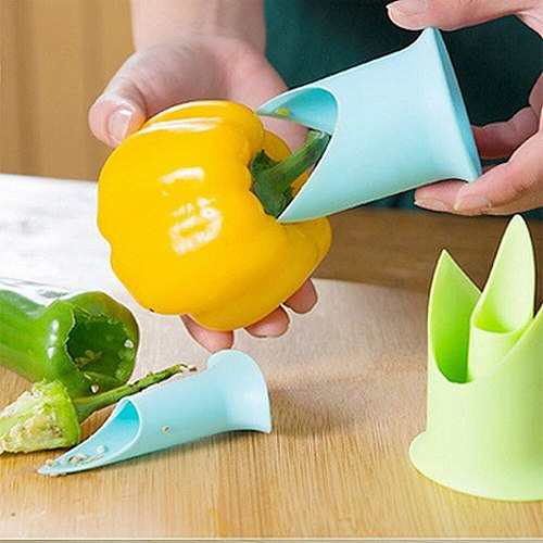 2Pcs Chilli Saves Effort To Remove The Size Of The Chilli Green Pepper Seed Remover Kitchen Supplies