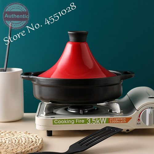 23cm Home Taji Pot Cast Iron Frying Pan with Enamel Lid Stew Pots Claypot Rice Casserole for Gas Stove/Induction Cooker 2L