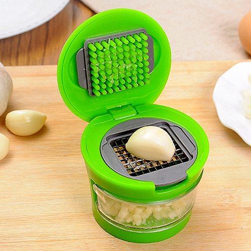 Kitchen Vegetable Tools Mini Garlic Press Presser Onion Chopper Garlic Mincer Slicer Dicer Grater