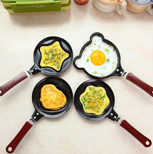Mini Egg Pancake Frying Pan Cute Creative Kitchen Tool Cooker Non-Stick Pot Frying Egg Cooking Tools Kitchen Accessories Gadget