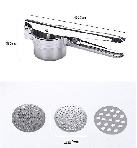 Stainless Steel Kitchen Tools Potato Masher Ricer Puree Garlic Presser Vegetable Fruit Press Maker Gadget Kitchen Accessories