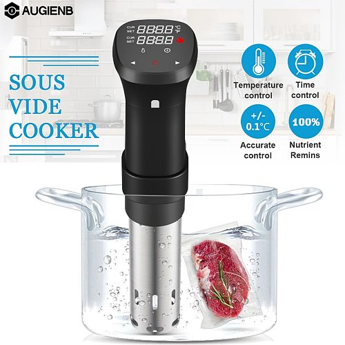 1800W Slow Sous Vide Cooker Thermal Immersion Circulator Machine with Large Digital LCD Display Time and Temperature Control