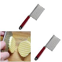 New Hot New Stainless Steel Potato Chip Dough Vegetable Crinkle Wavy Cutter Slicer Fruits Food Cutterly Tools
