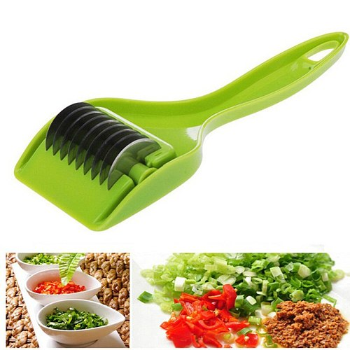 High Green Onion Vegetable Cutter Multipurpose Kitchen Gadget Wheel Cut Rugged Easy to Use UEJ