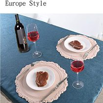 Hot Round Placemats Silicone European Style Embossed Heat Insulation Table Mat for Dining Kitchen Table Support CSV VIP