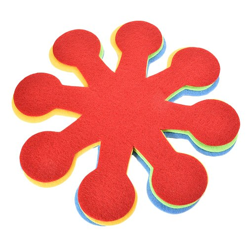 4/8Pcs Easter Flower Shaped Pot Pan Dish Protectors Holders Anti-Scratch Pads Dividers Cup Mats
